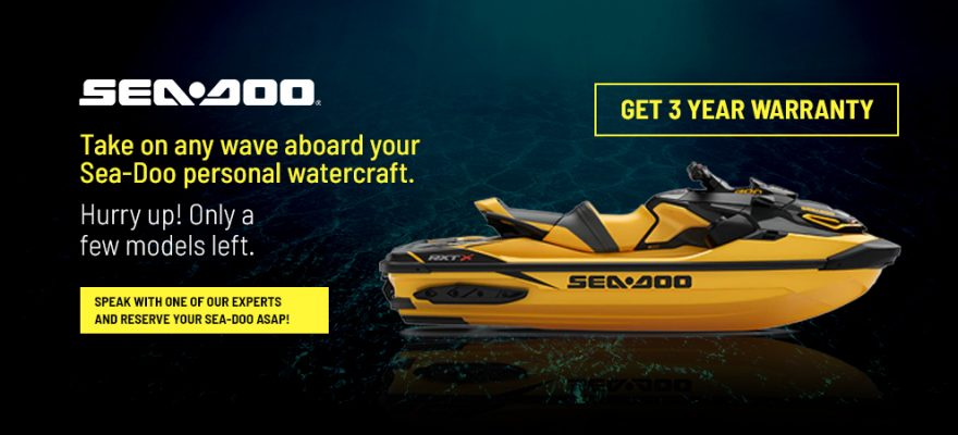 Take on any wave aboard your Sea-Doo personal watercraft