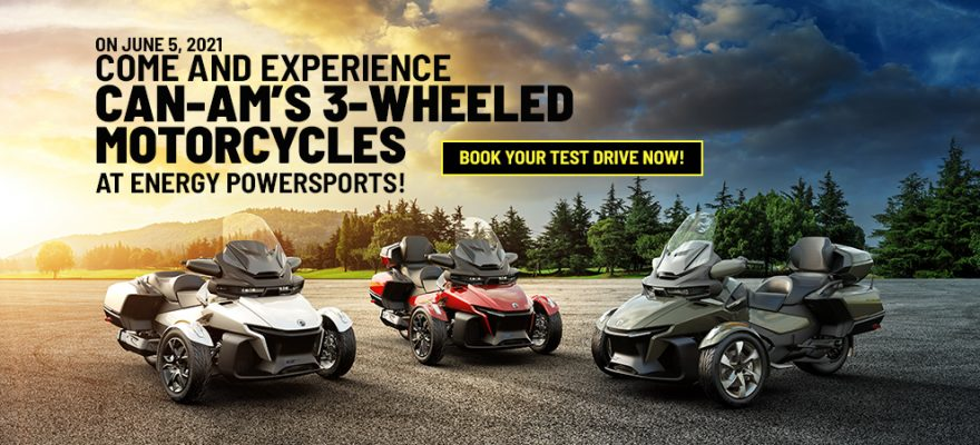 Come and experience Can-AM's 3-Wheeled Motorcycles