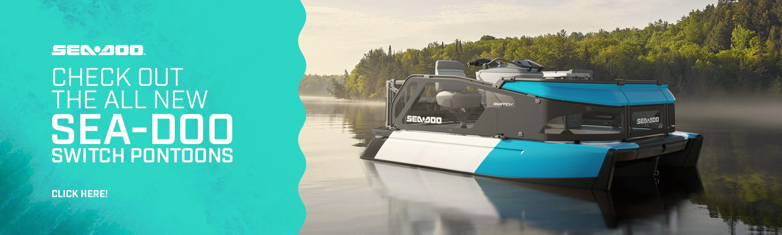 Check out the all new Sea-Doo Switch Pontoons – available for pre-orders at Energy Powersports