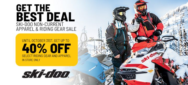 40% OFF on Ski-Doo Non-Current Apparel & Riding Gear