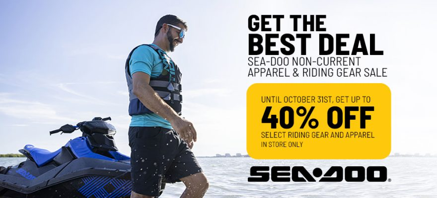 40% OFF on Sea-Doo Non-Current Apparel & Riding Gear